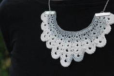 Lil' bib crochet necklace, available in so many different colors Different Colors, Crochet Necklace, My Etsy Shop, Etsy Seller, Jewelry Making, Creative, Atelier, Crochet Collar, Jewellery Making