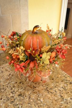 Pumpkin Arrangement by kristenscreations on Etsy