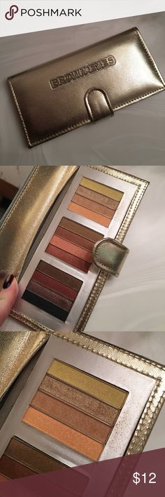 POP BEAUTY EYESHADOW PALETTE FOR BROWN EYES POP BEAUTY EYESHADOW PALETTE FOR BROWN EYES. ONLY THE SECOND SHADOW FROM THE TOP HAS BEEN USED (the gold glittery shade) otherwise like new. pop beauty Makeup Eyeshadow