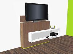 Werktekening bouwtekening TV meubel met lift 'Astor'