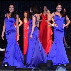 Royal Blue fishtail dress worn for a pageant from The Dress Studio