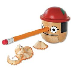 #onourRADAR clever design the #Pinocchio Honest Boy Pencil Sharpener, Kikkerland