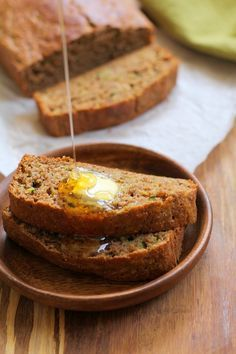 Paleo Zucchini Bread - grain-free, refined sugar-free, and healthy!   TheRoastedRoot.net #recipe #glutenfree  #breakfast