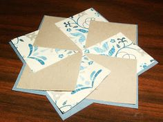 So I learned how to make this pinwheel from Judi  - my Stampin' Up friend/demonstrator.  I am just going to show you the pinwheel not the ca...