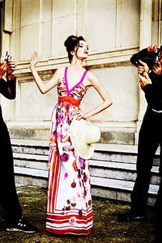 "Mariacarla Boscono Models Alberta Ferretti for Macy's - ""This is how you do a collaboration campaign."""