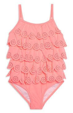 Younger Girl Coral Swimsuit