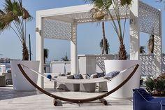 Where we'd rather be 😩 @driftbeachdubai 🍾 Dubai Beach, Beach Club, Landscape Architecture, Mirror, Outdoor, Holidays, Furniture, Instagram, Home Decor