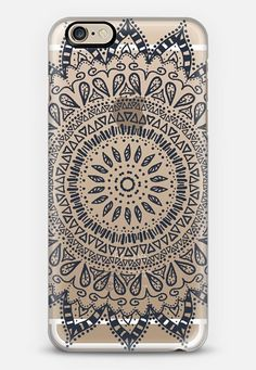 Henna case by Afrikraaft    #bohemian #flower #mandala #black #transparent #boho #chic #iphone #iphone6 #phone #case #cover