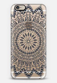 Henna case by Afrikraaft    #bohemian #flower #mandala #black #transparent #boho #chic #iphone #iphone6 #phone #case #cover