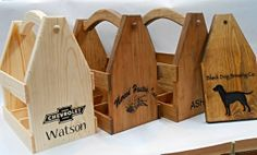 Custom+logo++Personalized+Beer+Tote++Wooden+Beer+by+MVwoodworks,+$65.00