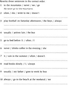 Esl Adverbs Of Frequency Worksheets #1 via Teaching English ...