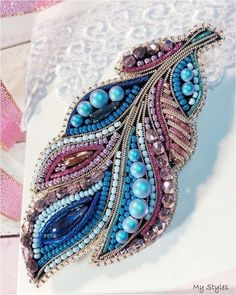 Best 12 And for the order of the same please write to Direct or WhatsApp ❗️ # handmade_ru_jewellery Feather bead work WhatsApp: We at Crystelle Beaded Crafts, Handmade Beaded Jewelry, Brooches Handmade, Jewelry Crafts, Jewelry Art, Bead Embroidery Patterns, Bead Embroidery Jewelry, Beaded Embroidery, Beading Patterns