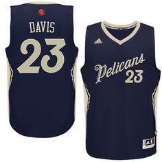 Men's New Orleans Pelicans Anthony Davis adidas Navy Christmas Day Swingman Jersey