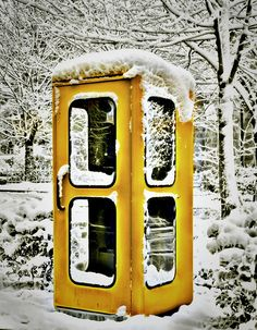 Yellow Phone Booth - Germany