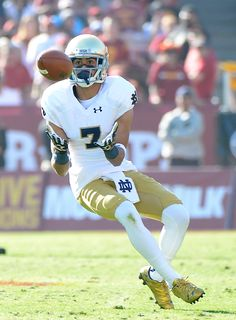 William Fuller #7 of the Notre Dame Fighting Irish makes a catch for a first down against the USC Trojans at Los Angeles Memorial Coliseum on November 29, 2014 in Los Angeles, California.