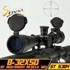 Aim optical sight Riflescopes Sniper Telescopic 8-32x50 SF Red Green Reticle Dot Hunting Shooting 20mm Rail Mount Rifle Scope