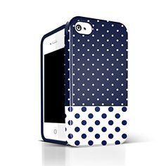 iphone 4s cases for girls,Akna Glamour Series [Flexible TPU]*[High Impact]*[Polka Dots Pattern] Soft Back Cover for iPhone 4 4S - [Dark Blue Polka Dots]** Indestructible Akna http://www.amazon.com/dp/B00GX3YGCG/ref=cm_sw_r_pi_dp_ZgN8ub1HEPSGE
