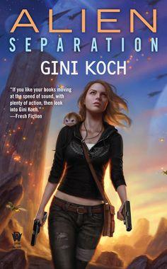 "Alien Separation, Book 11 in the Alien/Katherine ""Kitty"" Katt series cover art by Daniel Dos Santos, released May 5, 2015"