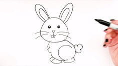 bunny draw easy drawing drawings simple super rabbit step abs