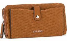 !!!Portmonee Lochmuster braun Suri Frey Romy Hetty Cognac Suri Frey, Wallet, Pocket Wallet, Artificial Leather, Handmade Purses, Diy Wallet, Purses