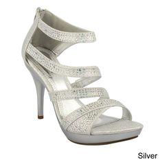 $35.00 Amazon.com: Bonnibel Amy-34 Womens Back Zipper Sparkle Evening Wedding Promo Sandals Shoes: Clothing