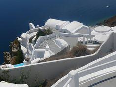 Santorini, Caldera, Blue, Island