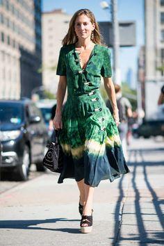 Teen Vogue's Marina Larroude on the street at New York Fashion Week. Photo: Imaxtree.