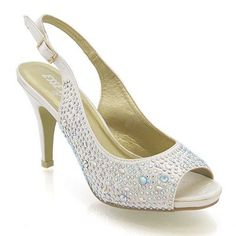 LADIES SATIN DIAMANTE WOMENS MID HEEL PLATFORM BRIDAL WEDDING PROM PARTY SHOES SIZE 3-8 (UK 3, Ivory Satin) ESSEX GLAM http://www.amazon.co.uk/dp/B00BZ9QFGS/ref=cm_sw_r_pi_dp_AhaZtb0GMSQWVY9D