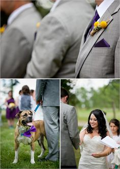 Gray tux with purple