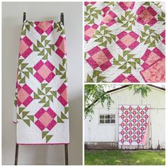 Roses Gardening V and Co — Aunt Rose Garden Quilt PDF - Finished Quilt size: x This pattern includes step by step instructions with color illustrations, pictures and diagrams. Pink Quilts, Girls Quilts, Bright Quilts, Quilting Projects, Quilting Designs, Quilt Design, Quilting Patterns, Quilting Ideas, Teneriffe