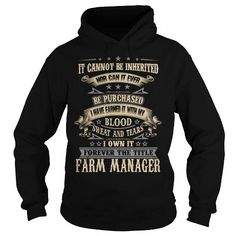 FARM MANAGER T Shirts, Hoodies. Get it now ==► https://www.sunfrog.com/LifeStyle/FARM-MANAGER-94190066-Black-Hoodie.html?57074 $38.99