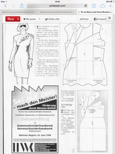 Dart and seam variation for dresses - Women's Cutter and Tailor Pattern Cutting, Pattern Making, Sewing Clothes, Diy Clothes, Clothing Patterns, Sewing Patterns, Pattern Drafting Tutorials, Wedding Dress Patterns, Bolero