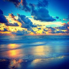 Island Beach, Art Pictures, Attraction, Sunrise, Scenery, Clouds, River, Heavenly, Beaches