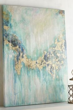 "This Teal Visions Abstract Art from Pier 1 puts the ""statement"" in statement piece. With its handsome pine frame and eye-catching abstract design, our wall art is destined to be the centerpiece of any room in your home."
