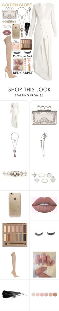 """""""ydk"""" by tekla-476 ❤ liked on Polyvore featuring Galvan, Alexander McQueen, Dolce&Gabbana, Charlotte Russe, Rifle Paper Co, Urban Decay, Casadei and Deborah Lippmann"""
