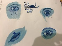 Blue day in the art journal (Lindsey K)