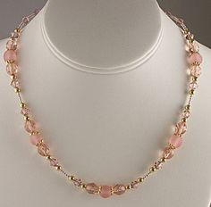 Free Jewelry Making Ideas | Jewelry Making Idea: Blushing Rose Necklace