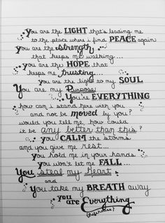 Everything - Lifehouse #God #Faith my favourite song xx I want this to be my first dance song~