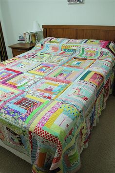 Quilt as you go method - very different from the one I've used in the past - great solution for large quilts