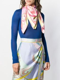 Emilio Pucci Abstract Peony Print Scarf - Farfetch Peony Print, Emilio Pucci, Accessories Shop, Plaid Scarf, Peonies, Abstract, Shopping, Women, Fashion