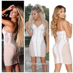 Ariana bandage dress on these beauties. Free shipping and 1-3 day delivery anywhere in the U.S.  Shop: Shopmarsia.com  #shopmarsia #ootd #ootn #trending #streetstyle #glam #sexy #igfashion #fashion #fashionista #fashionblogger  #fashiondiaries  #fashionaddict #fashionpost #dresses #love #instagood #like #cute #photooftheday #girl #beautiful #nice #look #aboutalook #hudabeauty  #mymodamobstyle