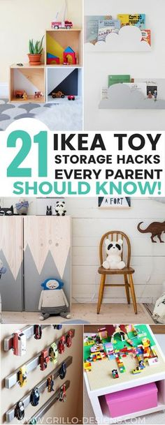 Sharing 21 awesome IKEA storage hacks for all your kids toys. These IKEA toy storage hacks will help you to get organised on a minimum budget.