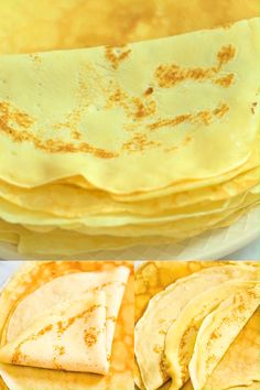 A basic recipe for French crepes. Don't you know how to make simple crepes? This easy recipe is a must know to make the best homemade crepes. You can eat them for breakfast or dessert and choose between a sweet or savory filling. Easy Crepe Recipe, Crepe Recipes, Basic Recipe, Crepe Pancake Recipe, Breakfast Recipes, Dessert Recipes, Breakfast Dessert, Easy Breakfast Ideas, Lemon Desserts
