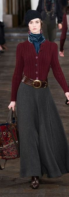 Ralph Lauren F/W 2013 RTW - NYFW - I love this outfit but would have to lose a ton of weight for it to look decent on me.  Why don't designers style for plus size women.