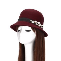 Cheap hat styles for women, Buy Quality hat stands for sale directly from China hat Suppliers: 2016 Pearl Fedora Hats For Women Autumn Winter Wool Felt Fedoras Flat Cloche Beanies Top Bucket Hat Sun Cap Gorro Chape