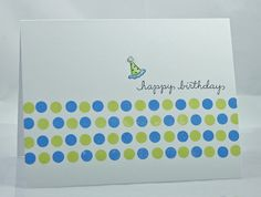 Cute polka dot card