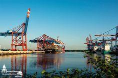 Containerhafen Waltershof  #hamburg #container #elbe #waltewrshof #eurogate #burchardkai #vessels #cargo #ships #containerships
