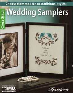Leisure Arts Wedding Samplers - Cross Stitch Pattern. Commemorate the happy couple's special day with one of the lovely cross stitch designs in Wedding Samplers