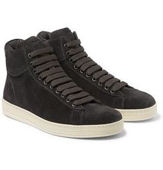 Tom Ford - Suede High-Top Sneakers
