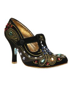 Take a look at this Black Mhari T-Strap Pump by Irregular Choice on #zulily today!  My kind of shoe!